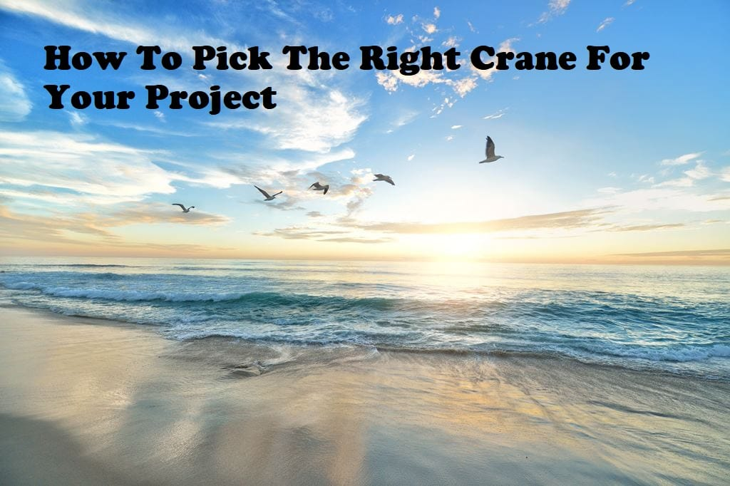 How to pick the right crane for your project