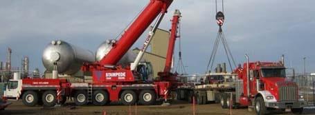 300 Ton Crane Burstall Bullet Lift - Stampede Crane & Rigging