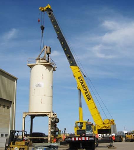 47000 lb Silo Lift - Stampede Crane & Rigging - Stampede Crane & Rigging