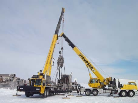 Oil Gas Crane Services - Stampede Crane & Rigging