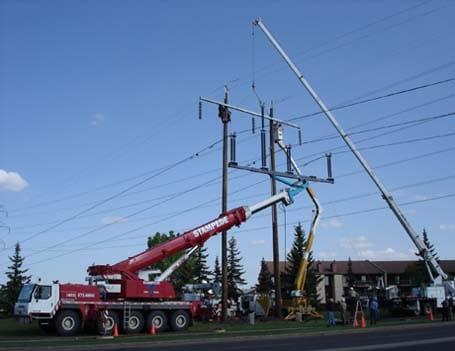 Power Transmission Crane Lift - Stampede Crane & Rigging