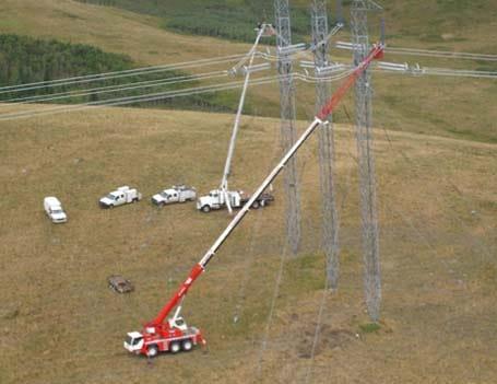 Power Transmission Crane Lift Services - Stampede Crane & Rigging