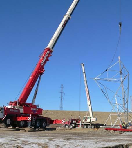 Power Transmission Crane - Stampede Crane & Rigging