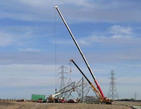 Power Transmission Crane Services Alberta Stampede