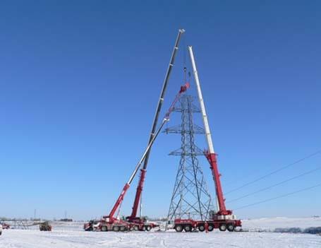 Transmission Crane Lift Services - Stampede Crane & Rigging