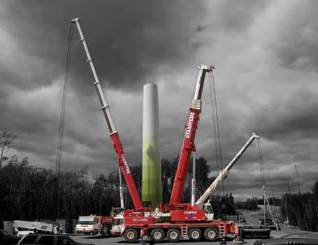 Wind Energy Crane Lift - Stampede Crane & Rigging