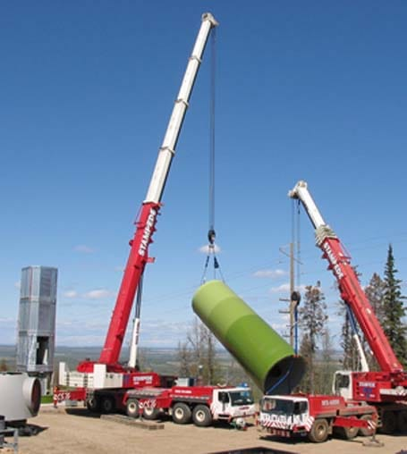 Wind Energy Crane Lift Services - Stampede Crane & Rigging