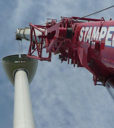 Wind Energy Lift Services - Stampede Crane & Rigging