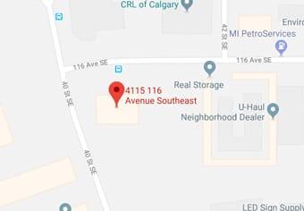 Calgary Map - Stampede Crane & Rigging